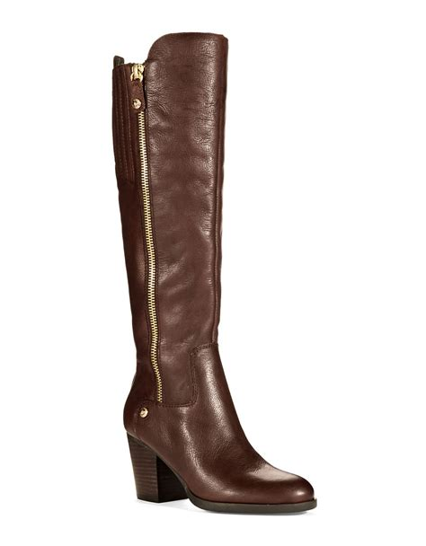 guess boots guess tolum leather boots in brown lyst