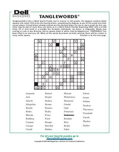 printable dell puzzles tanglewords 194 174 pennydellpuzzles