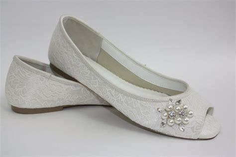 flat peep toe bridal shoes wedding shoes lace flats lace wedding shoes