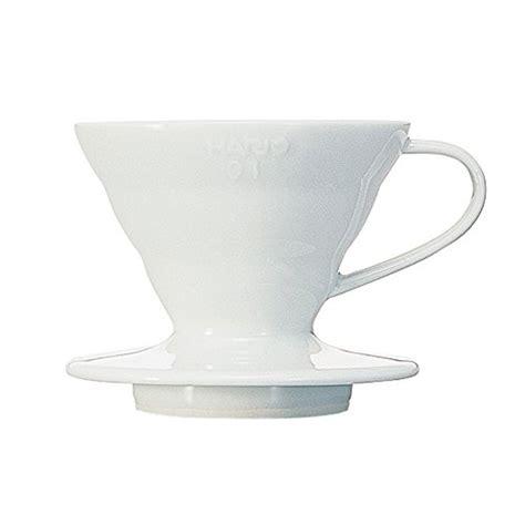 Hario V60 Plastic Dripper Size 01 White hario v60 ceramic coffee dripper size 01 white import it all