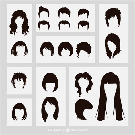 long hair free vector art 1906 free downloads hairstyles silhouettes vector free download