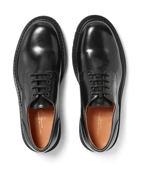 dries noten leather derby shoes in multicolor for black lyst
