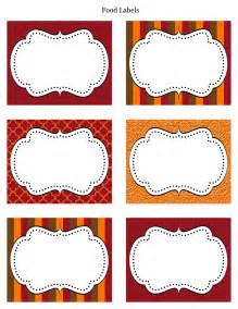 Templates For Food Labels by Free Thanksgiving Printables From Cupcake Express