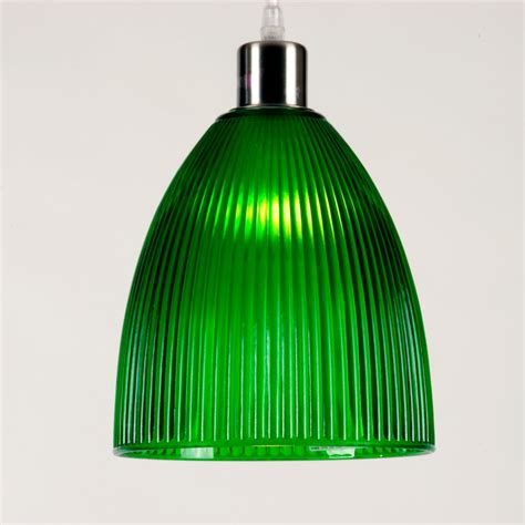 Glass Pendant Light Shades Ceiling Pendant Light Shade Ribbed Green Glass Modern Retro Pendant
