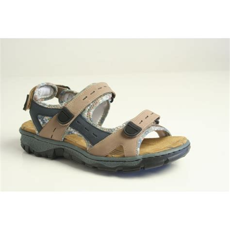 ultralight sandals rieker rieker brown combination sandal with lightweight