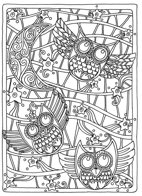 coloring pages for adults amazon owls coloring page for adults pinteres