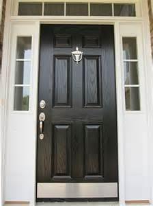 Front Door Plate Another Black Front Door For The Home
