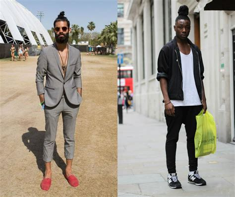 what is in style 2017 street style top knots for men to change your perception