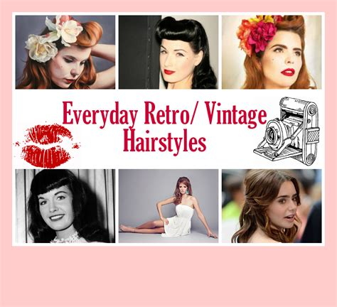 everyday retro hairstyles sparkle fire everyday retro vintage hairstyles