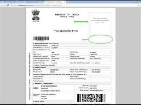 Exemple De Formulaire De Demande De Visa Sejour Rempli Vsi Visa Inde Guide De Remplissage Du Formulaire Demande De Visa