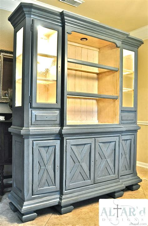 Furniture Photos Hgtv Stunning Gray Dining Room China Painted China Cabinet Ideas