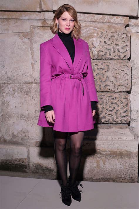 lea seydoux street style 2018 lea seydoux louis vuitton fashion show in paris 03 06 2018