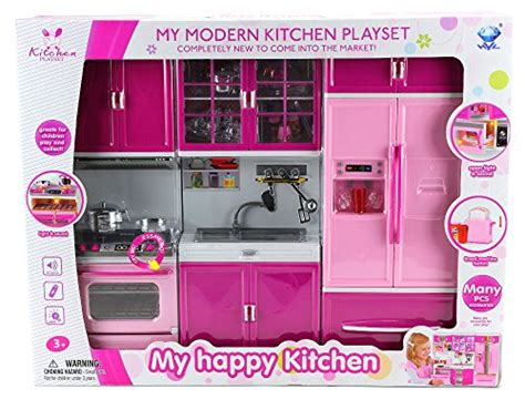 Happy Kitchen by Happy Kitchen Stove Sink Refrigerator Battery Operated