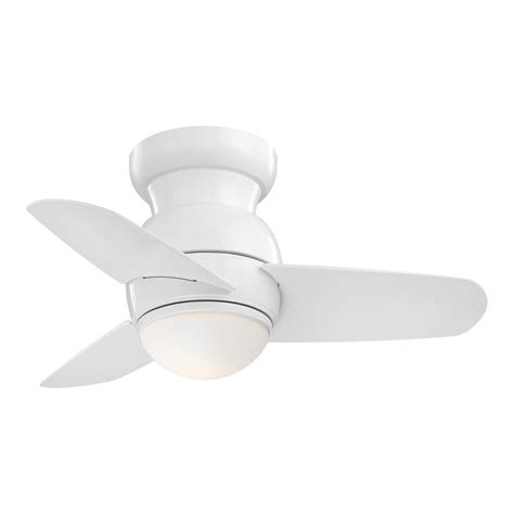 minka aire ceiling fan with light 26 inch minka aire spacesaver white led ceiling fan with