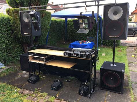 full mobile dj setup sound system lights stand trailer  kirkintilloch glasgow gumtree