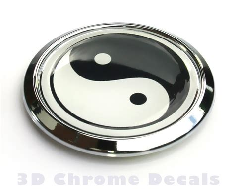 Auto Decals And Emblems by Religious Chrome Emblems Yin Yang Symbol Decal Car Chrome