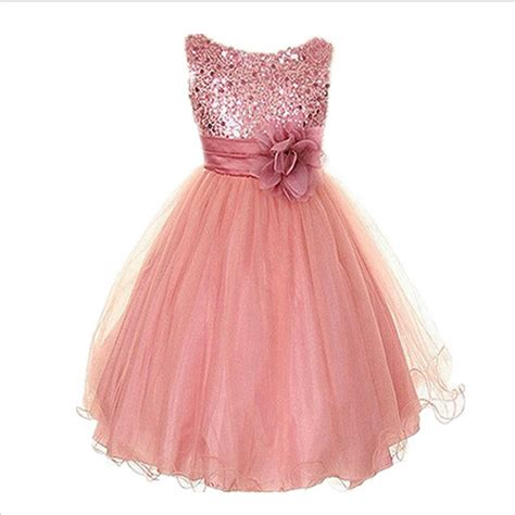Kid Dress Lace 2015 new dress princess clothes sequins flowers