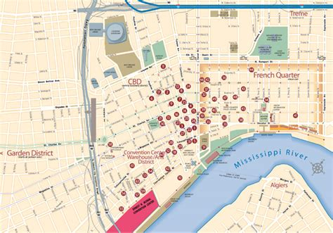 map of new orleans hotels near convention center map of new orleans hotels bnhspine
