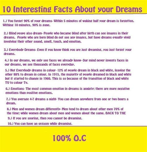 10 Interesting Facts About Dreams facts about dreams wishes and dreams really can come