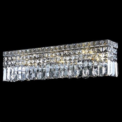 elegant bathroom lighting elegant lighting 2032w26c ec crystal maxime 26 in vanity