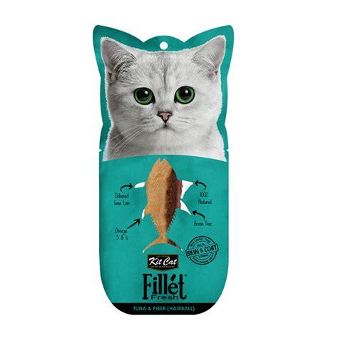 Snack Cemilan Kucing Kit Cat Fillet Tuna Smoked Fish 30gr kit cat fillet fresh tuna and fiber hairball kitcat