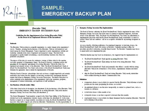 emergency contingency plan template 2015 06 03 succession policy contingency planning for ceos