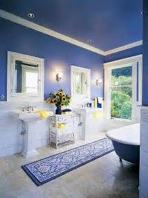 Blue And Yellow Bathroom Ideas Skarrlette S Hammer Blue Is Better