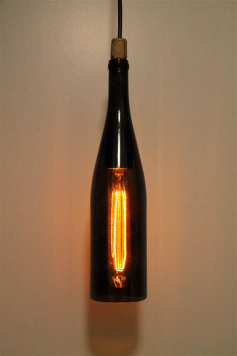 Wine Bottle Pendant Light Recycled Wine Bottle Hanging Pendant Light