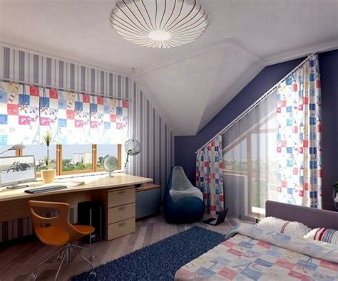 decorating ideas  kids room  pitched roof interior design ideas ofdesign