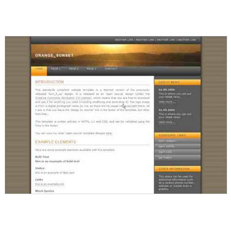 basic dreamweaver templates attractive beautiful and free dreamweaver xhtml templates
