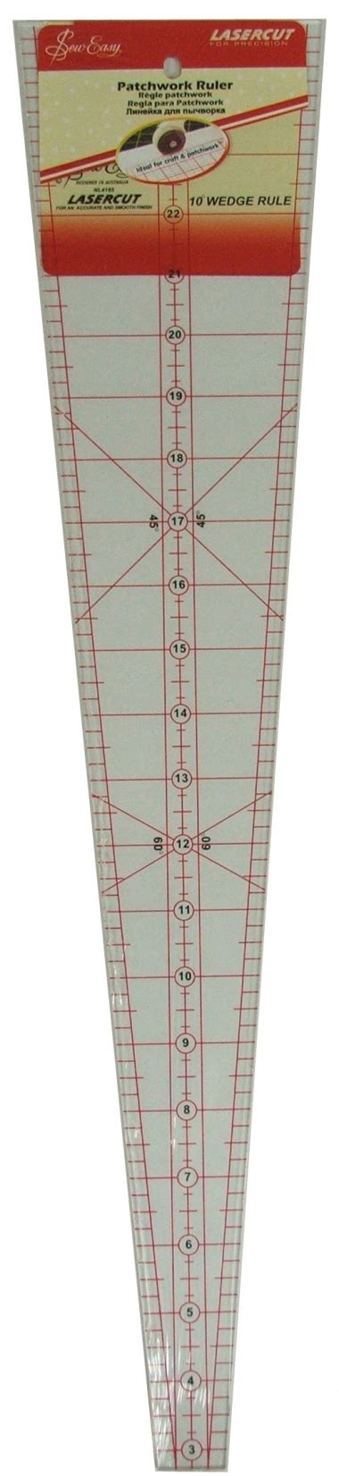 10 degree wedge template sew easy patchwork ruler 10 degree wedge nl4185 spicy