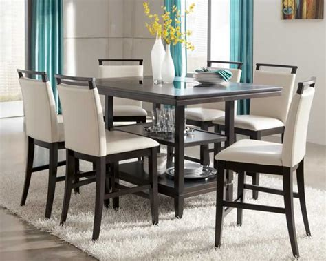 home design pretty black counter height dining table and