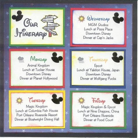 disney itinerary template pin by debbie smilley cbell on disney