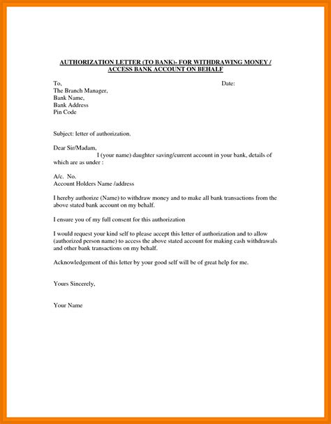 sle letter of authorization letter for bank authorization letter for bank settlement 28 images 6