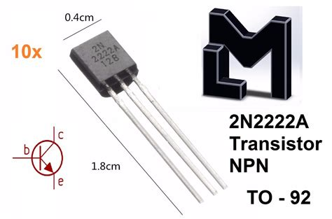 Transistor 2n2222 2n 2222 Npn 1 10 pzs transistor npn 2n2222 2n2222a 2222 cl 225 sica 10