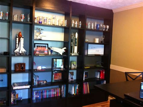 black built ins built in ikea billy bookcases a geek dad
