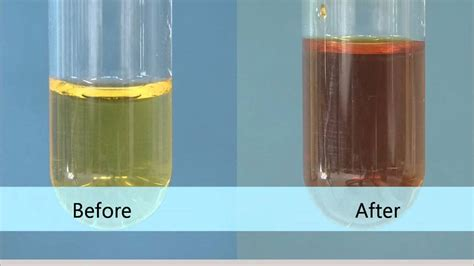 what color is bromine bromine water sodium iodide