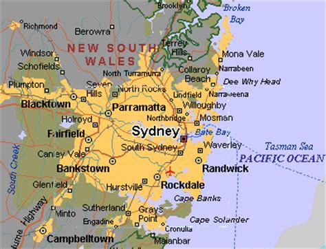 sidney australia map sydney map
