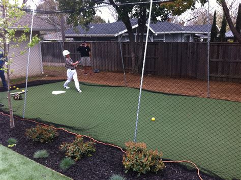 Backyard Baseball Batting Cage Artificial Turf Grass Batting Cage Project Tuffgrass