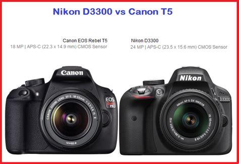 best nikon or canon nikon d3300 vs canon t5 which best entry level dslr