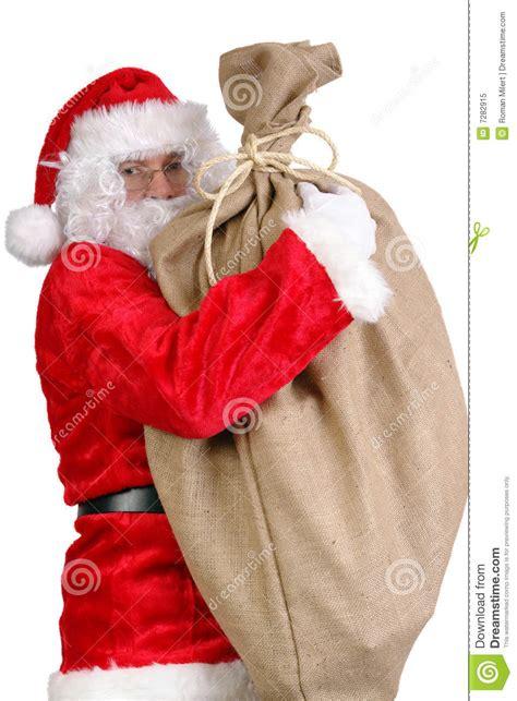 big santa claus santa with big sack royalty free stock photo image 7282915