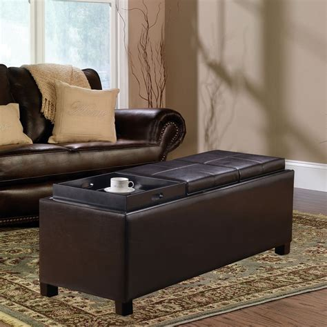 decorating an ottoman with tray best storage ottoman with serving tray railing stairs