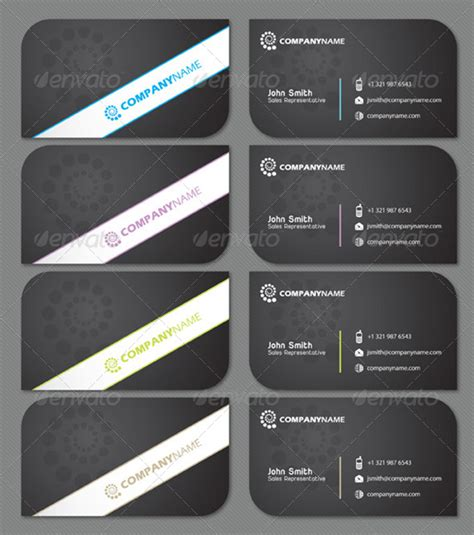 business cards rounded corners template sleek black business card with two rounded corners by