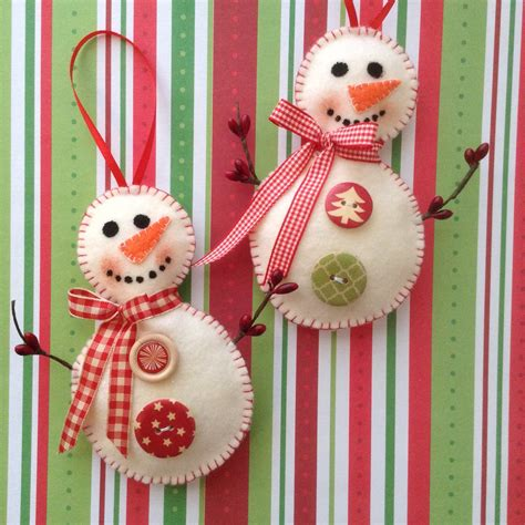 Handmade Ornaments For - snowman ornaments handmade felt