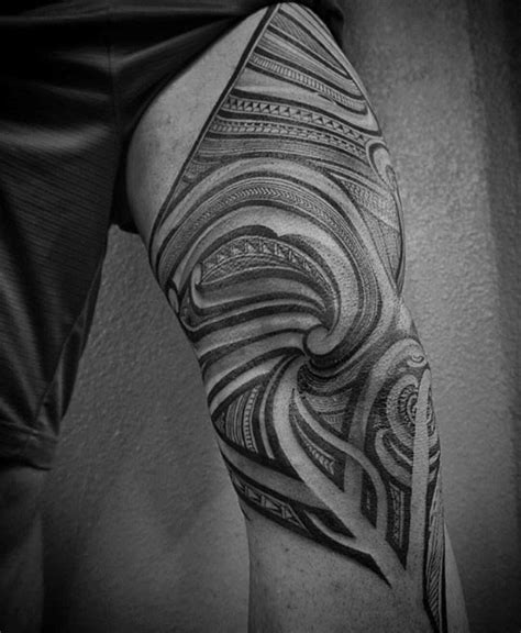 tribal quad tattoo 40 polynesian leg tattoo designs for men manly tribal ideas