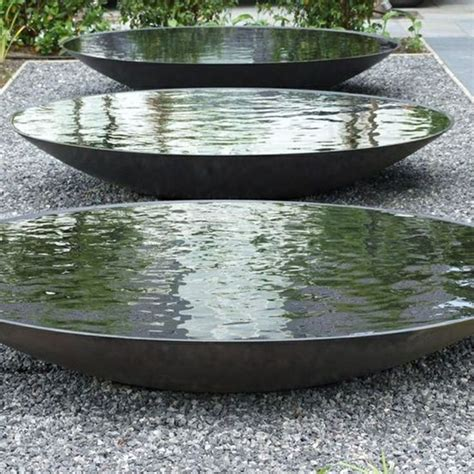 metal planters outdoor 25 best ideas about garden water features on