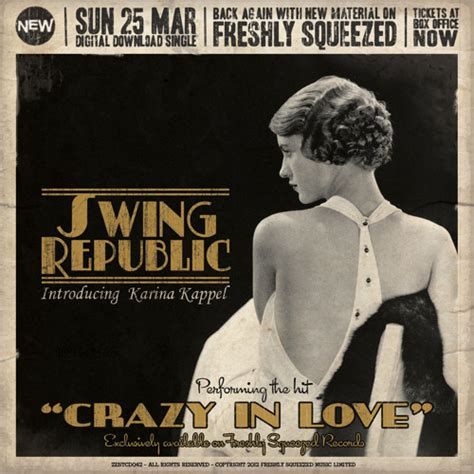 swing version swing republic crazy in love original electro swing
