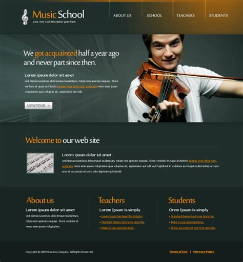 templates for music website free download 5620 music website templates dreamtemplate
