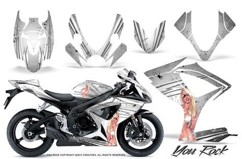 Suzuki Sticker Kit Suzuki Gsxr Gsx 600 750 2006 2007 Graphic Kits Creatorx