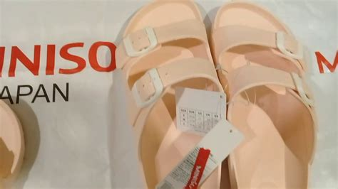 sandal miniso fashionable slippers